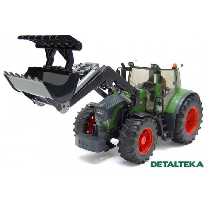Traktorius Fendt 936 Vario su frontaliniu krautuvu