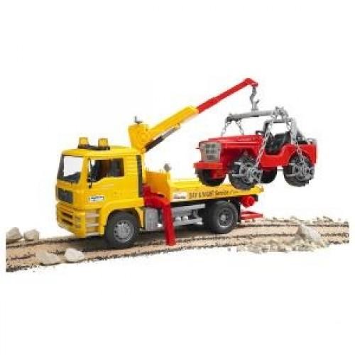 Pagalbos sunkvežimis su automobiliu Jeep