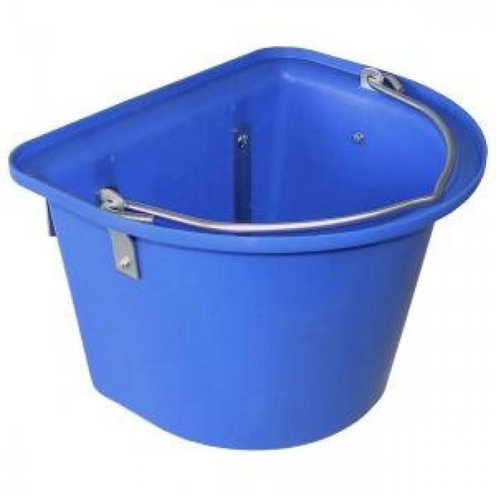 Mėlynas konteineris su kabliukais ir užsklanda