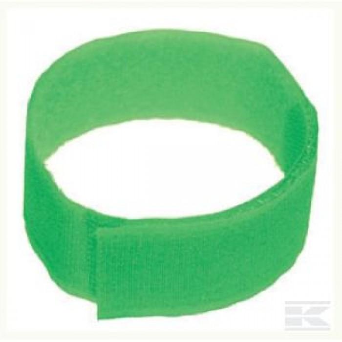 Lipni identifikavimo juostelė, žalia