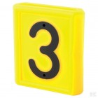 """Skaičius identifikavimo kaklajuostei """"3"""""""