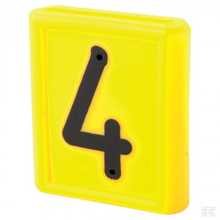 """Skaičius identifikavimo kaklajuostei """"4"""""""