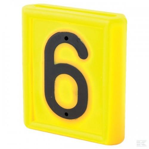 """Skaičius identifikavimo kaklajuostei """"6"""""""