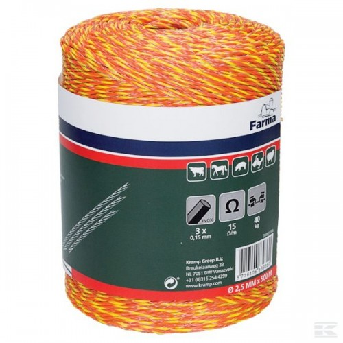 """Elektrinio aptvaro virvė """"Farma"""" 500m."""