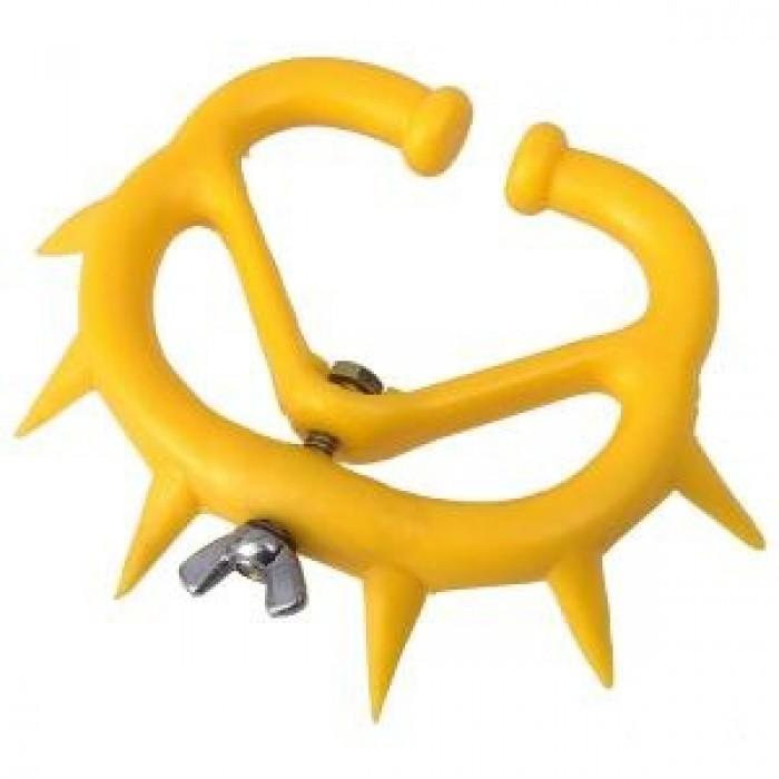 Žiedas karvei nuo išsižindinimo, plastmasinis, vidutinis