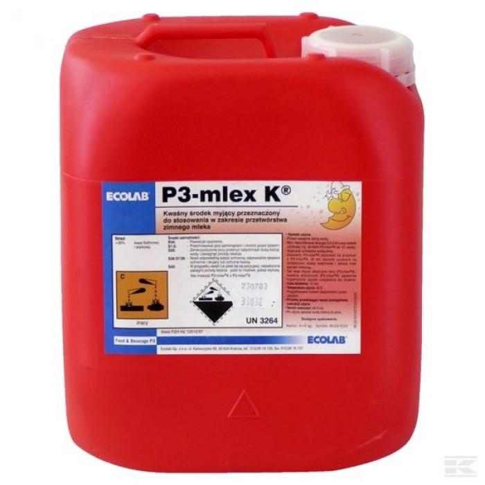 """Rūgštinė valymo ir dezinfekavimo priemonė 'P3-mlex K"""" 24 kg"""